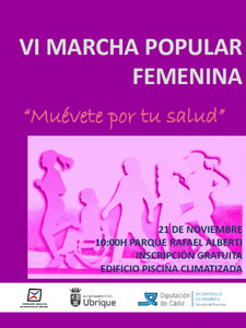 cartel 6 marcha popular femenina p