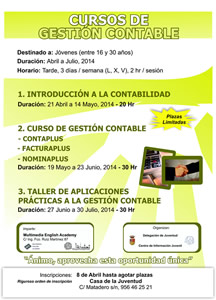 cartel curso gestion contable p