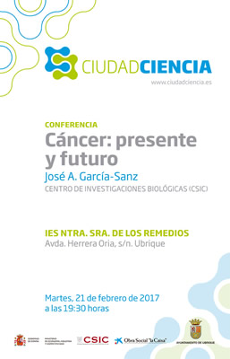 cartel conferencia cancer presente futuro p