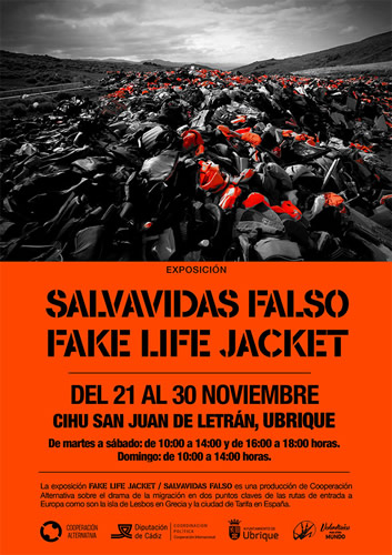 cartel expo salvavidas falso p